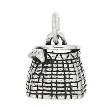 STERLING SILVER FISH BASKET CHARM/PENDANT
