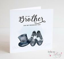 TO MY BROTHER ON MY WEDDING DAY Thank You Card - From Bride Or Groom