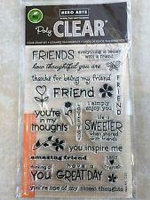 Hero Arts Friends Card Sentiments Clear Acrylic Stamp Set CL351 NEW