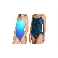NEW!! Speedo Women's Front Shirred One Piece Swimsuit Variety