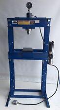 SHOP PRESS 30 ton AIR / HYDRAULIC PUMP & FOOT PEDAL WITH RAM, GAUGE , (SP30AH)