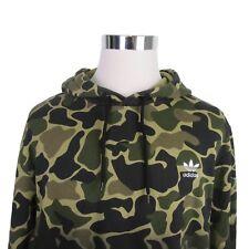 Adidas Originals Camo Hoodie Pullover Sweater Size Large Trefoil Logo CE1547 $90