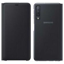 Samsung Wallet Cubierta Funda EF-WA750PBEG Galaxy A7 2018 A750F Funda Negra