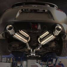 For 370z VQ37 09-17 Dual Catback Exhaust Double-Wall Muffler Tip Stainless Steel