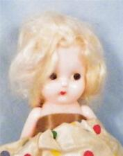 Vintage Doll Hard Plastic Platinum Hair Side Glancing Eyes 6in. Vintage