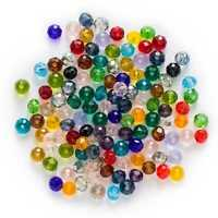50pcs Cut Faceted Crystal Glass loose spacer Beads Jewelry Making Decor 4-8mm