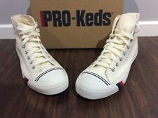 PRO KEDS ROYAL HIGH WHITE CANVAS SNEAKERS SZ 12 MENS NEW