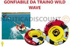 GONFIABILE DA TRAINO WILD WAVE 1 POSTO GIOCO D'ACQUA PVC  CIAMBELLA BARCA YACHT