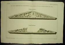 Frontons du Pathénon Pediments of en 1674 c 1790 Bourgeois Del Pillement sc