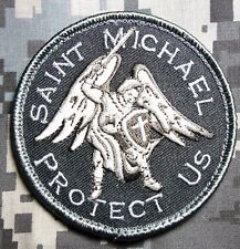 SAINT MICHAEL PROTECT US ARMY MORALE TACTICAL MILITARY BADGE SWAT HOOK PATCH