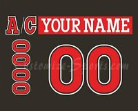 Cincinnati Cyclones Customized Number Kit for 2017-Present Black Jersey
