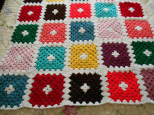 """Brand New Afghan - Colorful Grannie Squares - 57"""" by 40"""""""