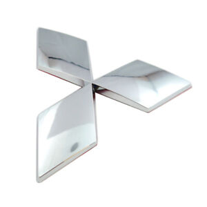 Chrome Curved Diamond Badge For L 200 Tailgate Boot 125x110mm