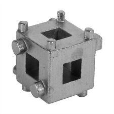 Car Rear Disc Brake Piston Retractor Tool Wind Back Cube Calliper Adaptor Silver