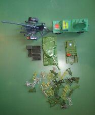 petits soldats 1/72. Canon anti-aérien+ camion radar. 45 pièce.WWII. Lot  34DCAC