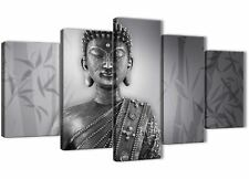 5 Piece Black White Buddha Dining Room Canvas Decorations - 5373 - 160cm