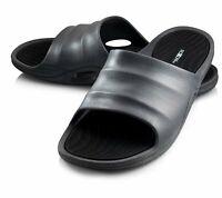 Roxoni Mens Slide Sandals Flip Flop Beach Shoes With Grip Designed rubber Sole