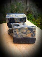 Organic Handmade Charcoal &Spirulina &Turmeric Cleansing Face,Body,Hair Soap-60g