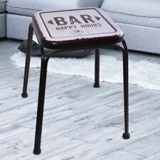 Retro Vintage Hocker Flur Beistell Möbel BAR Design Aufdruck Küchen Sitz Stuhl