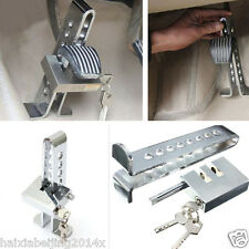 Car Chrome Anti-theft Device Stainless Steel Clutch Brake Accelerator Rod Lock