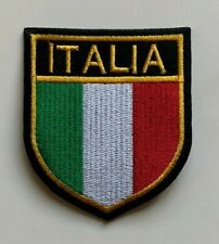 ITALIA / Italian National Flag Sheild  - Embroidered Iron on Sew on PATCH