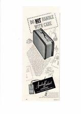 VINTAGE 1949 AMELIA EARHART LUGGAGE SUITCASE STRONG TRAVEL TRUNK BERMUDA AD PRIN