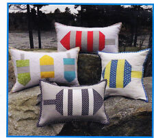 CLEARANCE - Buoy Pillows - nautical design cushions PATTERN - Midcoast Cottage