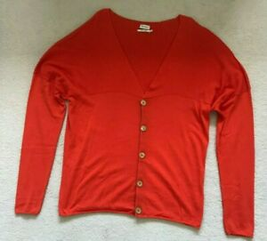 Paul Smith MAINLINE Long Sleeve  Orange V neck  Button Cardigan