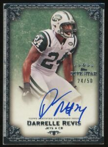 2010 Topps Five Star Silver Darrelle Revis New York Jets AUTO 24/50