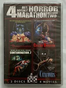 NEW ALL NIGHT HORROR MARATHON VOLUME TWO DVD 2 DISC 4 MOVIE COLLECTION RARE OOP