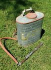 Vintage D.B. Smith Indian Backpack Fire Extinguisher Pump Brass Nozzle