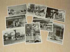 Lot 8 Carte Postale Station Service Garage Pompe Essence Huile Prospectus Auto