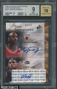 2009-10 SP Signature Edition 2 Star Michael Jordan LeBron James AUTO 9/23 BGS 9