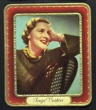 Inge Vesten 1937 Garbaty Passion Film Favorites Embossed Cigarette Card #192