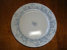 "Arcopal France GLENWOOD Set of 4 Dinner Plates 10 3/4"" Blue Flowers Rimmed"