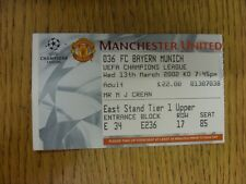13/03/2002 Ticket: Manchester United v Bayern Munich [UEFA Champions League] . T