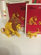 Christmas Disney Hallmark Keepsake Lion King Simba & Mufasa Ornament New In Box