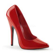 PleaserUSA High Heel-pumps Domina-420 LACK rot Gr. 42 5