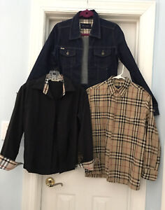 Burberry BritJean Jacket/Check Blouse/Black /check London Blouse