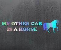 HORSE RIDE Chrome holographic vinyl sticker funny car decal JDM DUB bumper