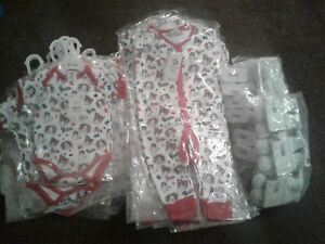 Joblot of baby clothes official team GB rompers hats 6-12 m 1-2 years x 134