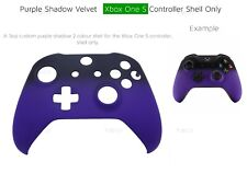 New Xbox One S Purple Velvet Soft microsoft Controller Front Shadow Shell Black