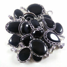 Wholesale Lot !! 200 Pieces Black Onyx Gemstone Silver Plated Pendant Jewelry.