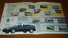 1946-99 HISTORY OF THE RENAULT BROCHURE PICTURE TIMELINE 4CV-CLIO FUEGO ALPINE