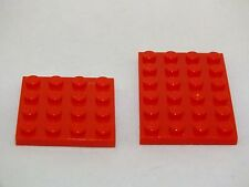 LEGO4X4 AND 4X6 RED PLATE BRICK BRAND NEW NEVER USED 51 PIECES
