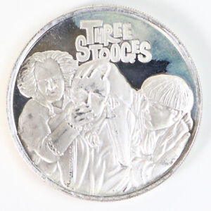 Three Stooges .999 1 Troy Oz Fine Silver Round GSM Larry Curly Moe