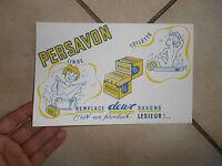 Ancien Buvard Publicitaire Savon Persavon Linge Toilette Produit Lesieur