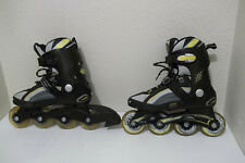 Boys Girls Blade Runner Scream Black Gray Yellow Inline Skates Sz 4 Youth