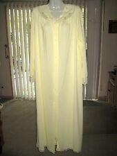 Vintage Shadowline Long Robe Pale Yellow Sz M