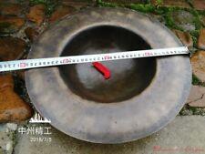 40cm Tibetan Temple Ritual Bell Faqi Bronze Dreary Sound Cymbals Hand Bell #1622